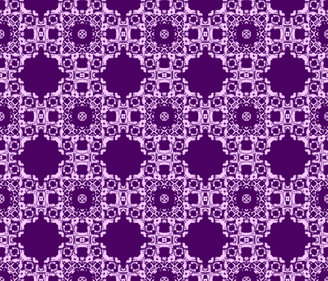 Stamp Print Purple Floral  fabric by maryartdecor&design on Spoonflower - custom fabric