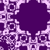 Stamp Print Purple Floral