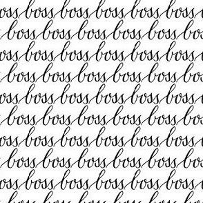 boss black white words text calligraphy
