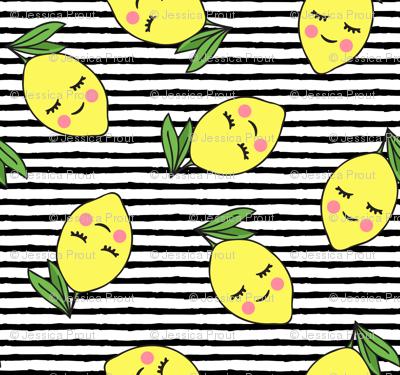 happy lemons - black stripes