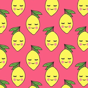 happy lemons on pink 3