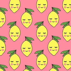 happy lemons on pink 2