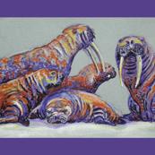 Walruses Tea Towel
