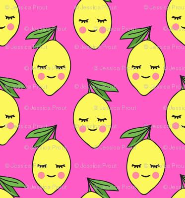 happy lemons - hot pink