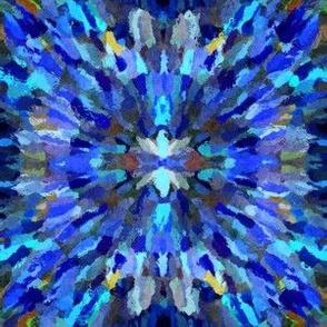Diana Star Paint Strokes, bright blue