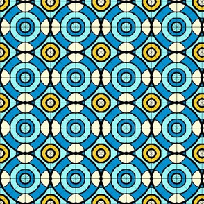 Marrakesh Circular tile aqua