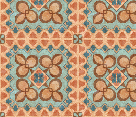 Moroccan Minaret fabric by jewelraider on Spoonflower - custom fabric
