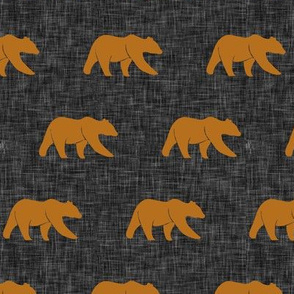 (small scale) bears - cider on dark grey