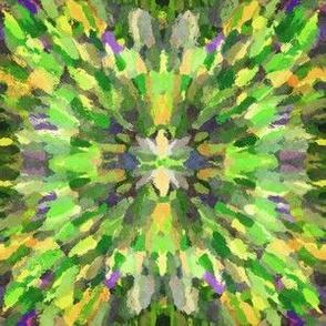 Diana Star Paint Strokes, Green