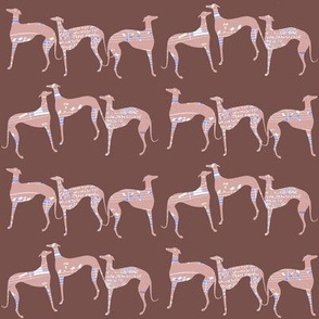 """poets and philosophers"" , pink greyhounds"