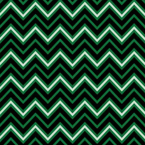 Chevrons in Green and Silver