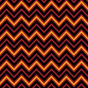Chevrons in Red and Gold