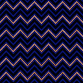 Chevrons in Blue and Bronze