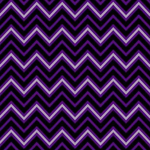 Chevrons in Violet and Pewter