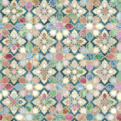 Muted Moroccan Mosaic Tiles - large version