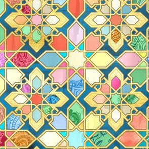 Gilded Moroccan Mosaic Tiles - large version