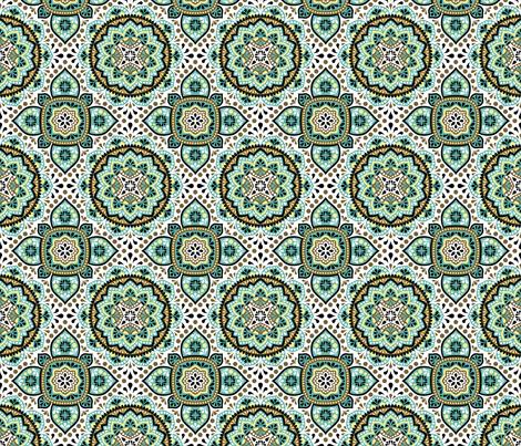 Arabian ornamental pattern fabric by yamanekopaws on Spoonflower - custom fabric