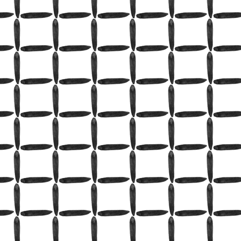 Neutral Home Decor Black White Grid Sticks Watercolor Graphic Square _ Miss Chiff Designs fabric by misschiffdesigns on Spoonflower - custom fabric