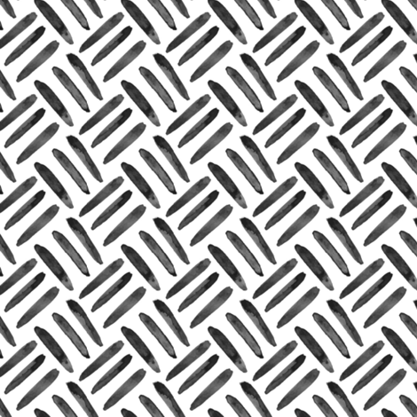 Black white neutral home decor basket weave fabric by misschiffdesigns on Spoonflower - custom fabric