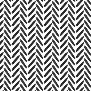 Black White Graphic Watercolor Herringbone Neutral Home Decor Weave Texture _ Miss Chiff Designs