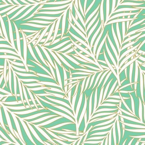 Tropical Leaves - Aquamarine