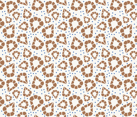 Inspired by Punto in Aria, Brown, Beige and Blue fabric by jane_oleary on Spoonflower - custom fabric