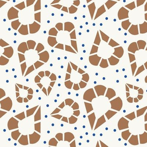 Inspired by Punto in Aria, Brown, Beige and Blue