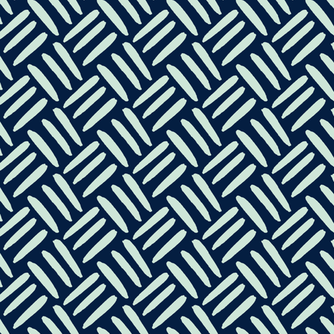 Mint Green Navy Blue Weave Simple Texture Miss Chiff Designs