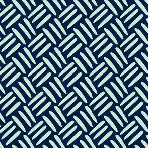 Mint Green Navy Blue Weave Simple Texture _ Miss Chiff Designs