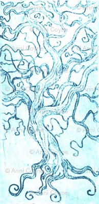 Tree tangle -Intaglio print-