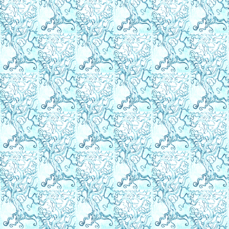 Tree tangle -Intaglio print- fabric by cloudsong_art on Spoonflower - custom fabric