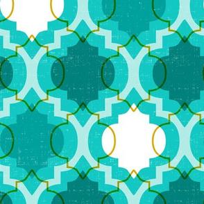 Medina - Modern Ogee Geometric Aqua Teal