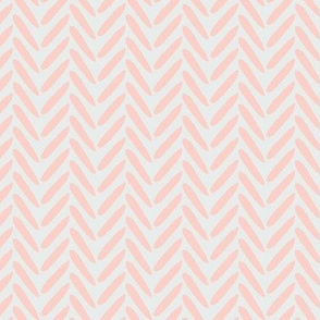 Blush Peach Pink Coral on Gray grey Herringbone Weave Simple _ Miss Chiff Designs