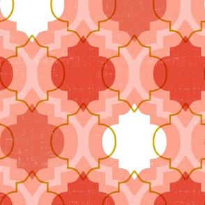 Medina - Modern Ogee Geometric Coral