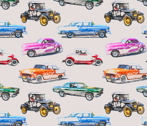 Classics in colored pencil fabric by leroyj on Spoonflower - custom fabric