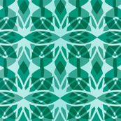 Oasiria - Modern Moroccan Geometric Aqua