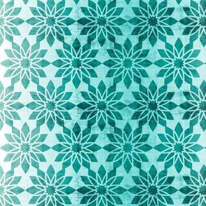 Majorelle - Textured Moroccan Geometric Aqua