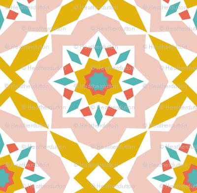 Mattonelle - Moroccan Geometric - Desert Blush