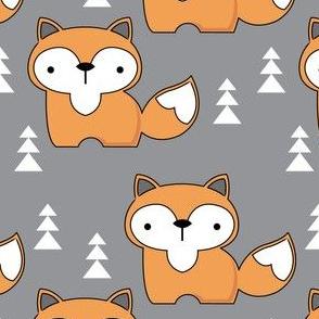 fox on dark grey