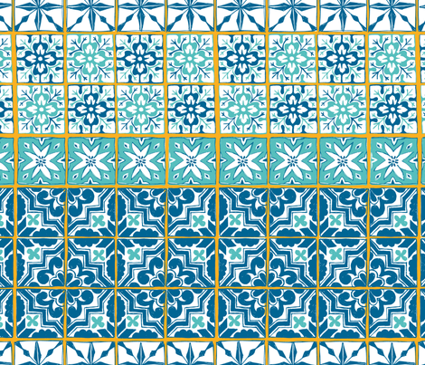 Moroccan tiles  fabric by revista on Spoonflower - custom fabric