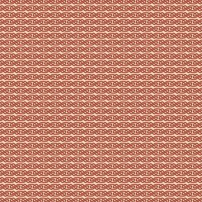 Simple Knotwork in Red and Cream
