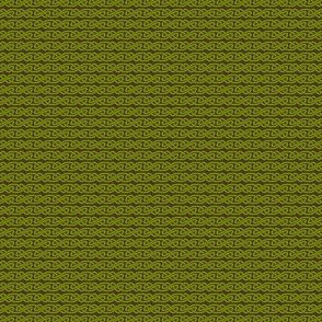 Simple Knotwork in Green and Brown