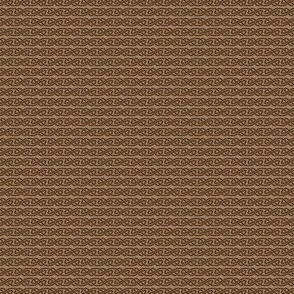 Simple Knotwork in Brown and Tan
