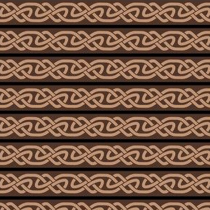 Knotwork and Lines in Tan, Black and Brown