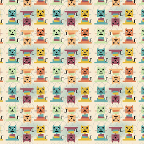 Bauhaus Cats Small Print