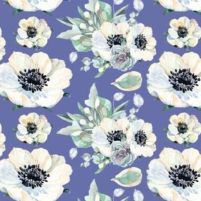 "Tennessee Flowers Pattern Purple 6"""