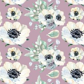 "Tennessee Flowers Pattern Light Purple 6"""