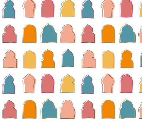Marrakech Windows fabric by mesa_masa on Spoonflower - custom fabric