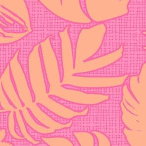 Tiki Leaves Pink XL