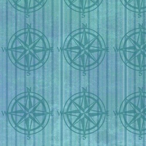 nautical compass stripped fabric